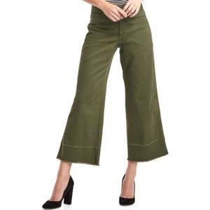 NEW GAP wide leg high rise green jeans trouser